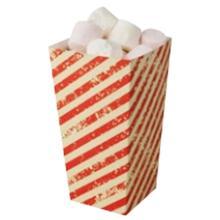 Kartonnen popcorn beker medium 1695 ml rood creme gestreept Productfoto