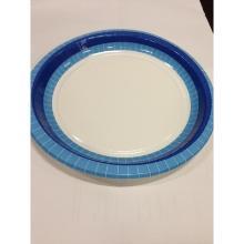 Kartonnen bord met rand ø22cm blauw Productfoto