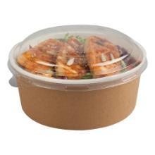 Kartonnen bak Multifood PE rond 700 ml + PP deksel Productfoto