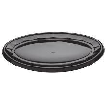 Plastic schaal PET ovaal 45x31 cm zwart Productfoto