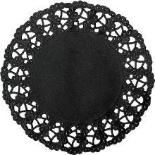 Randen rond zwart 19cm geperforeerd Productfoto
