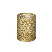 Duni metalen LED kaarshouder Billy 10x8 cm bliss goud Productfoto