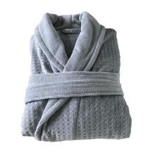 Katoenen badjas Mozaiek maat L grijs Productfoto