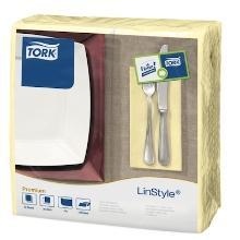 Tork Linstyle Dinner servet 39x39cm 1/8vouw champagne Productfoto