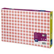 Tork placemat 27x42 cm rood/wit geblokt bistro Productfoto