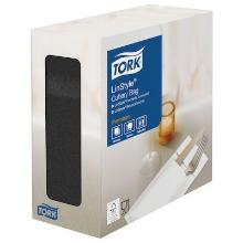 Tork Linstyle® bestekpochette zwart Productfoto