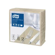 Tork Dinner servet 39x39 cm 1/8 vouw 2-laags naturel Productfoto