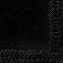 Servet celstof 40x40cm 3-laags zwart Productfoto