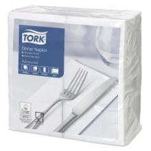 Tork Dinner celstof servet 39x39 cm 2-laags 1/8 vouw wit Productfoto