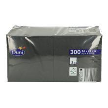 Duni celstof servet 24x24 cm zwart 2-laags Productfoto