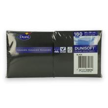 Dunisoft servet 20x20cm zwart Productfoto