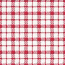Servet Giovanni 33x33cm 3-laags rood/wit geblokt Productfoto