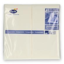 Duni Dunisoft servet 48x48 cm 1/8 vouw wit Productfoto