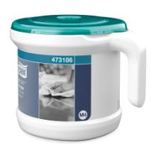 Tork Reflex™ draagbare Centrefeed Dispenser System Wit/Turquoise Productfoto