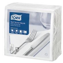 Tork Dinner celstof servet 39x39cm 3-laags 1/4vouw wit Productfoto