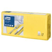 Tork Lunch celstof servet 33x33cm 2-laags 1/4vouw geel Productfoto