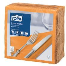 Tork Dinner celstof servet 39x39cm 2-laags 1/4vouw oranje Productfoto