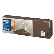 Tork LinStyle cocktailservet 23x23cm 1/4vouw cacao Productfoto