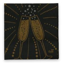 Duni Dunisoft servet 20x20 cm festive cheers zwart Productfoto