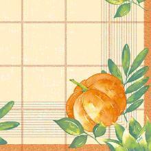 Duni celstof servet Pumpkin Spice 40x40cm 3-laags dessin Productfoto