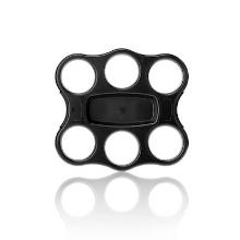 Bekerplateau PS 24.5x22.5 cm 6-gaats zwart Productfoto