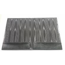 Rekeningmap 19x24.5cm poro zwart met zijde voering Productfoto