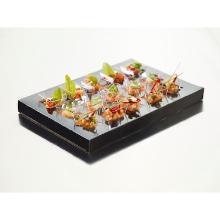 Duni Amuse-bouche® kartonnen inzet 36x25x3 cm zwart tbv cateringdoos 4665207 Productfoto