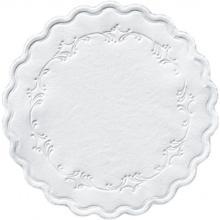 Druppelvanger ø 9 cm 8 laags romantic white met schulprand Productfoto