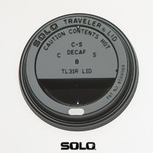 Deksel beker krt.trav.10oz solo zwart Productfoto