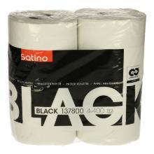 Satino Black toiletpapier tissue 2-laagsl 400 vel per rol Productfoto