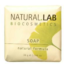 Natural Lab jojoba & macadamia zeep 20 gram wit Productfoto