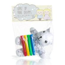 Osme Organic Baby & kids colouring teddy bear with 4 markers kit Productfoto