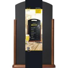 Securit houten tafelkrijtbord XL donkerbruin met handvat Productfoto