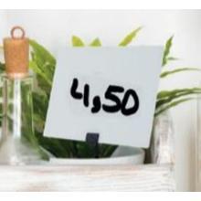 Securit krijtbord tags zwart per 20 verpakt incl krijtstift, prikkers en houder Productfoto