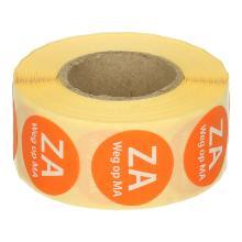 Daymark afwasbare sticker Za weg op Ma 500 stuks op rol HACCP Productfoto