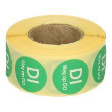 Daymark afwasbare sticker Di weg op Do 500 stuks op rol HACCP Productfoto