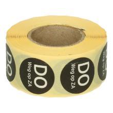 Daymark afwasbare sticker Do weg op Za 500 stuks op rol HACCP Productfoto