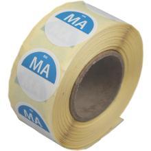 Daymark afwasbare sticker Ma zonder weg op 500 stuks op rol HACCP Productfoto