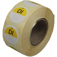 Daymark afwasbare sticker Di zonder weg op 500 stuks op rol HACCP Productfoto