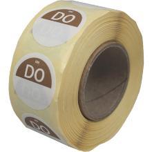 Daymark afwasbare sticker Do zonder weg op 500 stuks op rol HACCP Productfoto