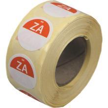 Daymark afwasbare sticker Za zonder weg op 500 stuks op rol HACCP Productfoto