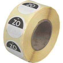 Daymark afwasbare sticker Zo zonder weg op 500 stuks op rol HACCP Productfoto