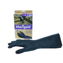 Marigold Hobby latex handschoen M zwart (paar) Productfoto
