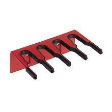 Salmon steelhouder muursysteem tbv 4 stelen 206 mm rood Productfoto