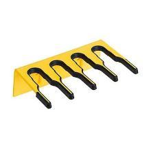 Salmon steelhouder muursysteem tbv 4 stelen 206 mm geel Productfoto