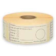 Daymark makkelijk verwijderbare sticker multifunctioneel Koeling 500 stuks HACCP Productfoto