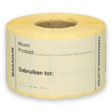 Daymark afwasbare sticker Magazijn 250 stuks op rol HACCP Productfoto