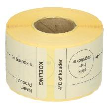 Daymark afwasbare sticker koeling 250 stuks op rol HACCP Productfoto