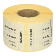 Daymark afwasbare sticker Vriezer 250 stuks op rol HACCP Productfoto