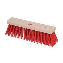 Bezem nylon 290 mm rood Productfoto